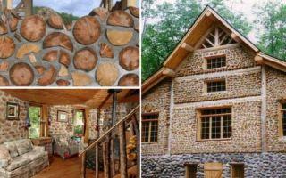 Архитектура: Поленья вместо кирпича, или Как построить колоритный эко-дом из обычных дров