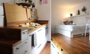 Идеи вашего дома: Смелое преображение комнаты площадью 15 кв метров в полноценную квартиру