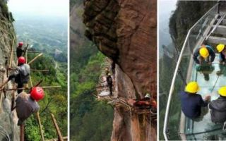 Архитектура: Дорога над пропастью, или Как китайцы строят новые туристические тропы