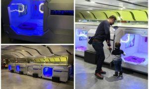 Архитектура: В аэропорту Пулково открылся капсульный отель, напоминающий каюты космического корабля