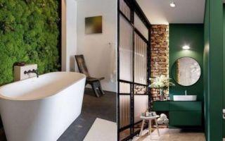 Идеи вашего дома: 25 способов сделать стильную ванную комнату, всего лишь добавив зелёного