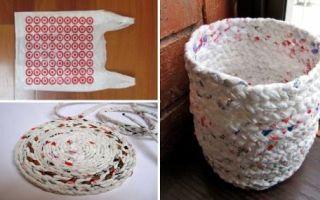 Идеи вашего дома: Эксклюзивная вещица из копеечного материала: Мастер-класс по плетению корзинки из полиэтиленовых пакетов
