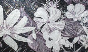 Плитка мозаика цветочный мотив