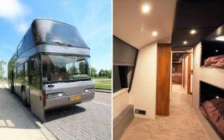Архитектура: Голландец приобрел старый 2-этажный автобус и превратил его в виллу на колесах