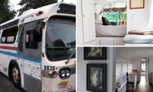 Архитектура: Американка превратила старый автобус-развалюху в эко-дом на колесах