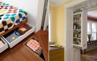 Идеи вашего дома: 12 идей для хранения вещей в маленькой квартире, когда места совсем впритык