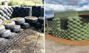 Идеи вашего дома: Дачник решил выделиться и построил летний домик из старых шин