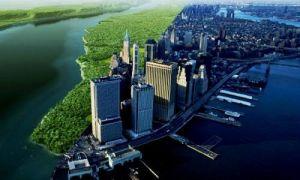 Архитектура: До урбанизации: как выглядел Манхэттен до застройки небоскребами