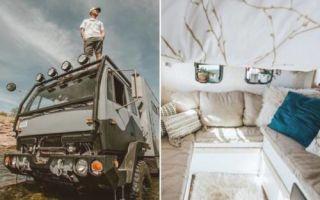 Архитектура: Молодая пара превратила старый военный грузовик в дом своей мечты