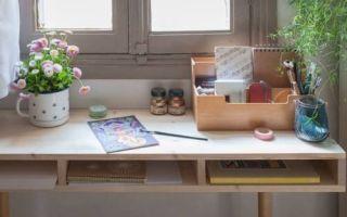 Рабочий стол из дерева своими руками: мастер-класс с фото изготовления рабочего места вдоль окна
