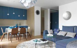 Квартира в Санкт-Петербурге в морской цветовой гамме, 103 м²