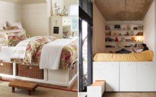 Идеи вашего дома: Кровать с секретом, или Как организовать скрытые системы хранения в спальне