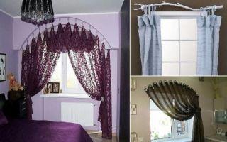 Идеи вашего дома: 15 оригинальных идей  как повесить шторы без карниза