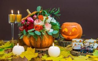 Мастер-класс: Цветочная композиция в тыкве к Хэллоуину