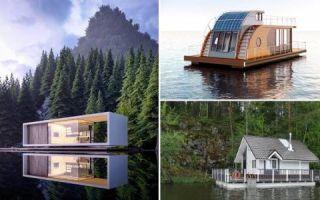 Архитектура: Плавающие дома: от крошечных барж до целых деревень и городских кварталов