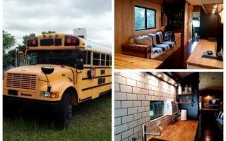 Архитектура: Американец превратил старый школьный автобус в роскошный дом на колесах