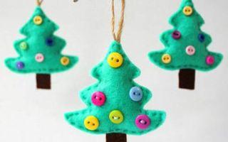 Как с детьми сделать своими руками ёлочную игрушку из фетра: мастер-класс