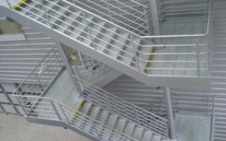Лестница из решётчатого настила