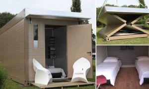 Промышленный дизайн: Домики для дачи или загородного отдыха, которые собираются и разбираются в считанные минуты