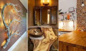 Идеи вашего дома: Что можно сделать из спилов дерева, или оригинальные элементы декора для интерьера