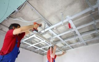 Выравнивания потолка гипсокартоном