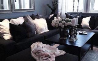 Цвет ночи: 20 чёрных гостиных