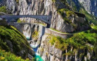 Архитектура: Дьявольский мост, по которому раньше не могли разойтись даже две повозки: мистическое место в Швейцарии