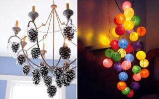 Идеи вашего дома: Как сделать оригинальные люстры своими руками из подручных средств
