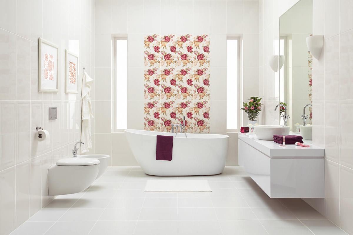 ванна в белых тонах