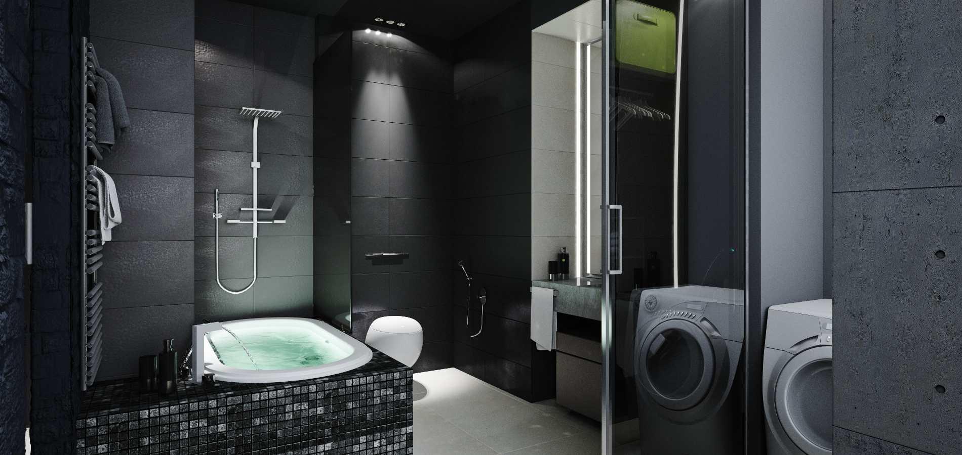 ванна в черных тонах