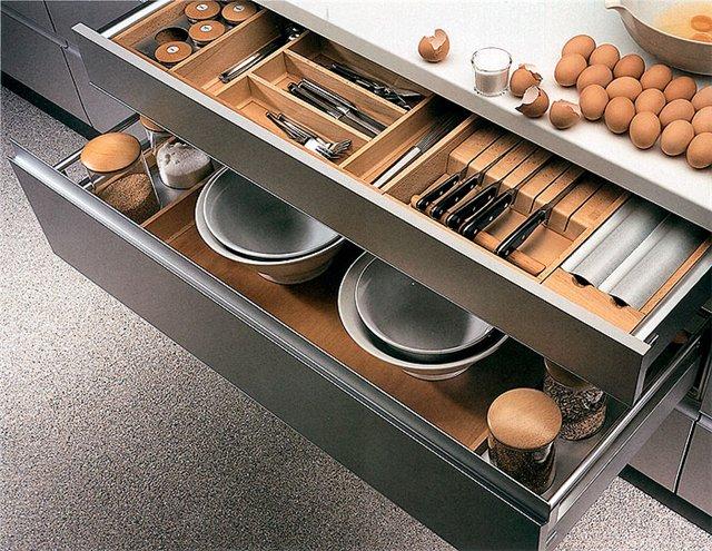 внутреннее наполнение кухонного гарнитура
