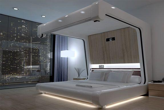 Как правильно выбрать кровать. Кровать в стиле Хфй-Тек