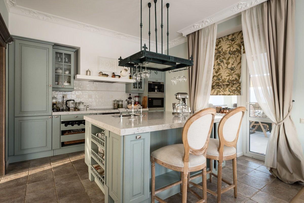 кухня в стиле прованс дизайн интерьера фото