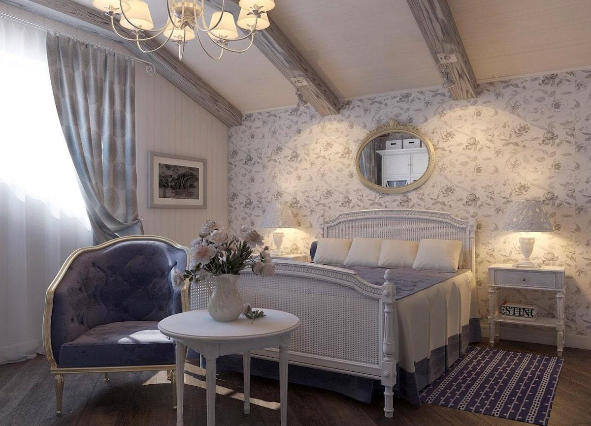 Дизайн интерьера спальни в стиле прованс фото