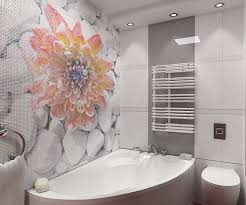 цветочные мотивы в стиле мозаики