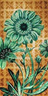 изображение цветочных мотивов в стиле мозаики