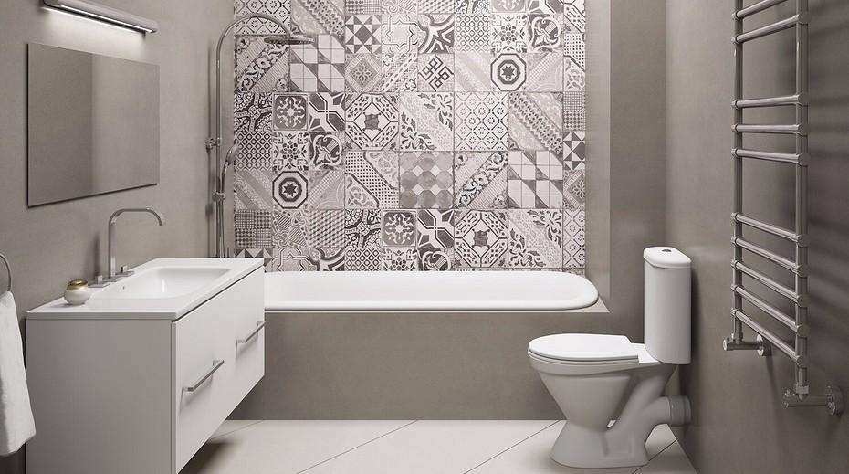 Идеи оформления ванной комнаты. Плитка для ванной фото