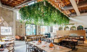 Светлый ресторан в Лос-Анджелесе